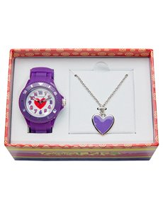watches: Cool Kids Girls Watch and Heart Pendant Set !