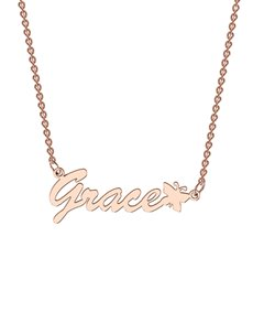 jewellery: Memi Personalised Rose Gold Necklace!