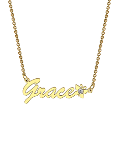 jewellery: Memi Personalised Necklace CNAME YGB1D!