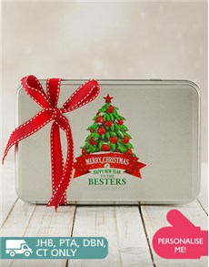 Bakery: Personalised Happy Holidays Cookie Tin!