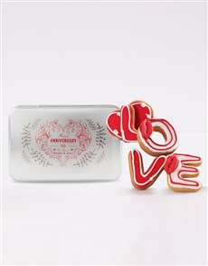 bakery: Personalised Anniversary Love Cookie Tin!