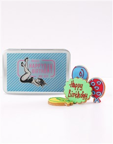 bakery: Personalised Big Guy Birthday Cookie Tin!
