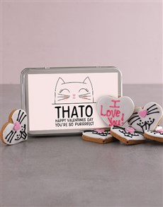 bakery: Personalised Valentines Day Kitty Cookies!