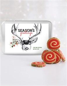 gifts: Personalised Seasons Greetings Spiral Cookie Tin!