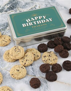 bakery: Personalised Happy Birthday Choc Chip Tin!