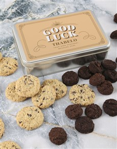bakery: Personalised Good Luck Choc Chip Tin!