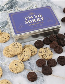 bakery: Personalised Im So Sorry Cookie Tin!