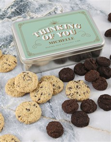 bakery: Personalised Thinking Of You Cookie Tin!