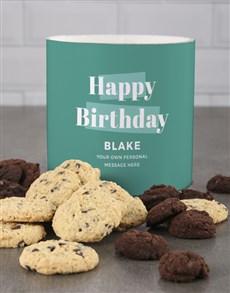 bakery: Personalised Sea Green Birthday Cookie Tube!