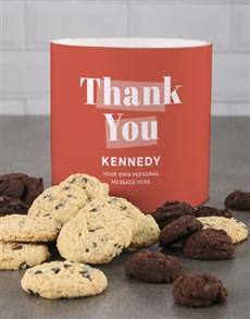 gifts: Personalised Orange Gratitude Cookie Tube!