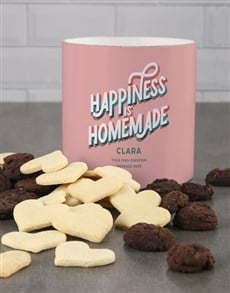 bakery: Personalised Colourful Happy Home Cookie Tube!