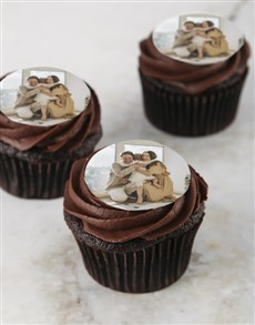 gifts: Personalised Chocolate Photo Cupcakes!