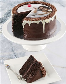bakery: Personalised Photo Chocolate Drip Cake!