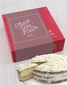 bakery: Personalised Chateau Gateaux Thank You Cake!