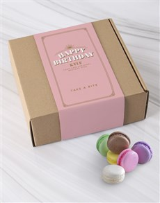 gifts: Personalised Happy Birthday Macaroon Box!