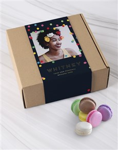 bakery: Personalised Polka Dot Photo Macaroon Box!