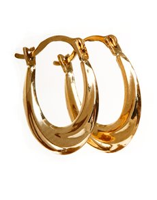 jewellery: 9kt Yellow Gold Medium Oval Creole Earrings!