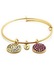 jewellery: Chrysalis Gold February Birthstone Bangle!