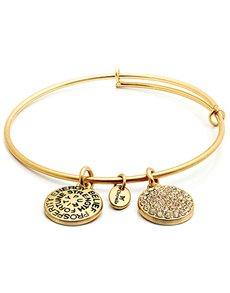 jewellery: Chrysalis Gold April Birthstone Bangle!