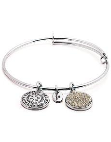 jewellery: Chrysalis Silver April Birthstone Bangle!