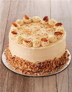 bakery: Coffee and Pecan Nut Cake with Coffee Icing 20cm!
