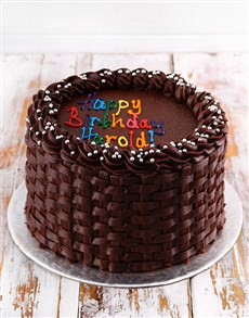 bakery: Simple Chocolate Birthday Cake!