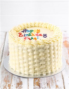 gifts: Simple Vanilla Birthday Cake!