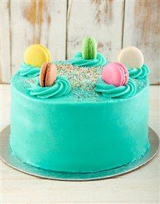 bakery: Turqouise Macaroon Cake!