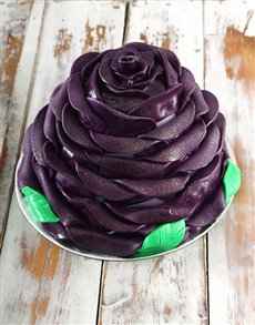 bakery: Purple Blueberry Rose Cake!