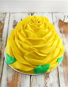 bakery: Yellow Lemon Rose Cake!
