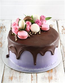 Picture of Lilac Macaroon Cake!