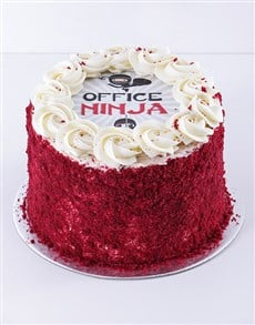 gifts: Office Ninja Red Velvet Cake!
