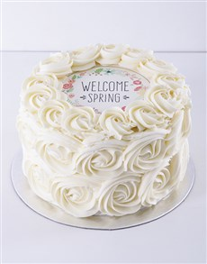 gifts: Spring Day Vanilla Rose Cake!
