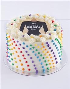 bakery: Happy Bosses Day Rainbow Cake!