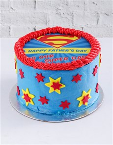 gifts: Super Dad Rainbow Cake!
