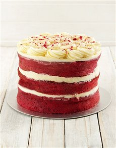bakery: Red Velvet Naked Cake!