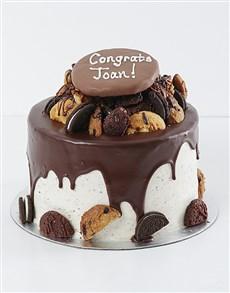 bakery: Personalised Cookie and Brownie Drip Cake!