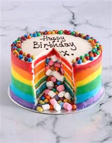 gifts: Rainbow Pinata Cake!
