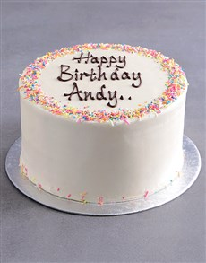 bakery: Personalised Vanilla Birthday Cake!