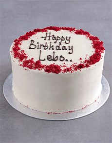 bakery: Personalised Red Velvet Birthday Cake!