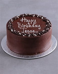bakery: Personalised Chocolate Birthday Cake!