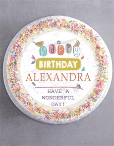 bakery: Personalised Birthday For Her Cake!