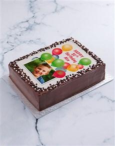 bakery: Birthday Balloons Photo Cake!