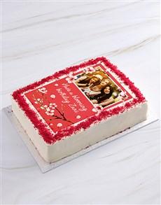 bakery: Blooming Birthday Photo Cake!