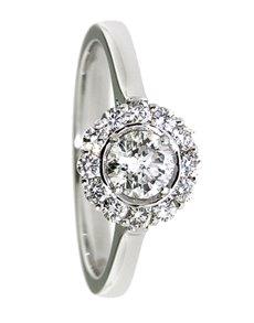 jewellery: 18kt White Gold Petals Diamond Ring!