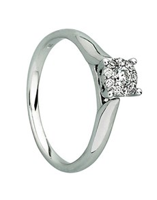 jewellery: 9kt White Gold Diamond Ring D01912 9 N!