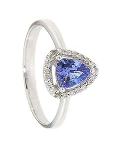 jewellery: 9kt Tanzanite and Diamond Ring D01919 9 M!