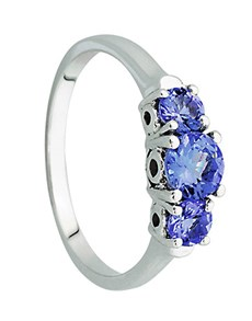 jewellery: 9kt White Gold Tanzanite Ring 0.82ct!