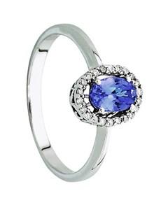 jewellery: 9kt Tanzanite and Diamond Ring 0.45ct!