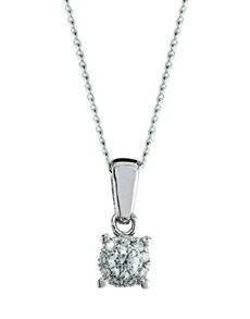 jewellery: 9kt White Gold 0.09ct Diamond Necklace!